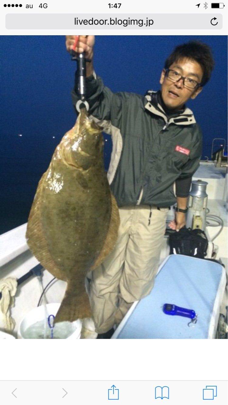 武井則之さんの投稿画像,写っている魚はヒラメ
