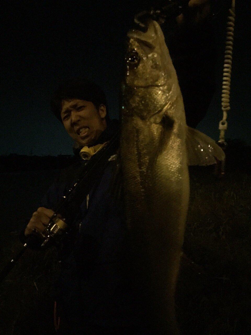 ともたろうさんの投稿画像,写っている魚はスズキ