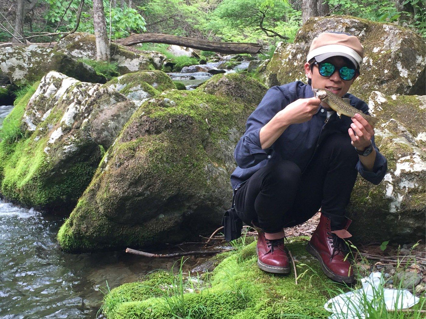 aRuSuさんの投稿画像,写っている魚はイワナ