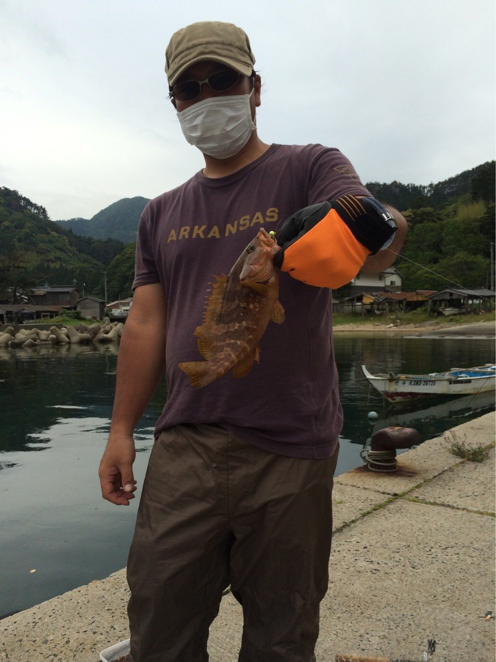 ミューさんの投稿画像,写っている魚はキジハタ