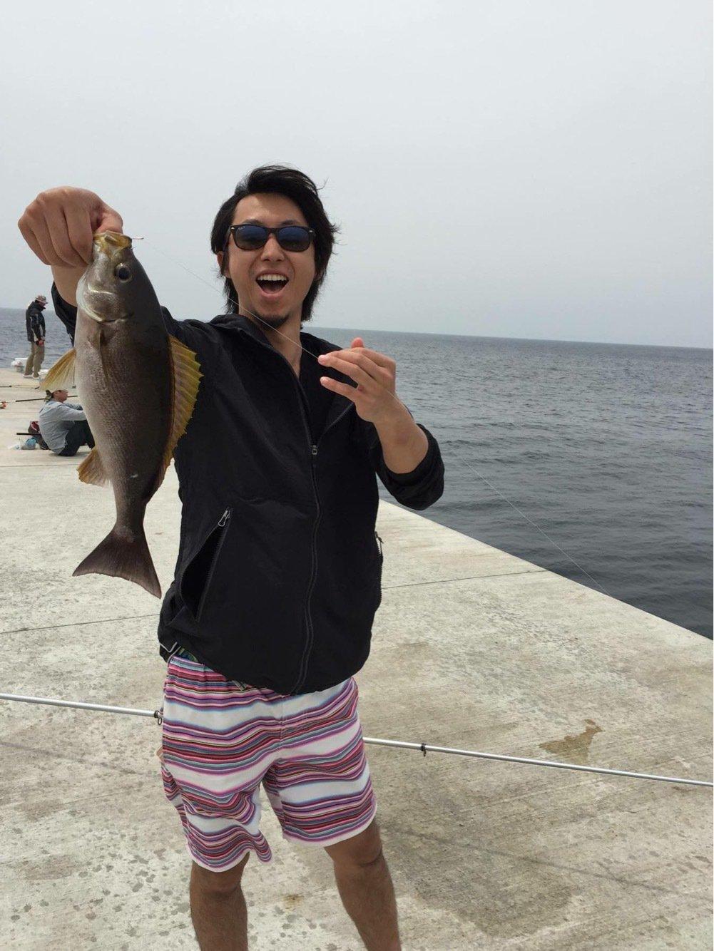 ゆーとさんの投稿画像,写っている魚はイサキ