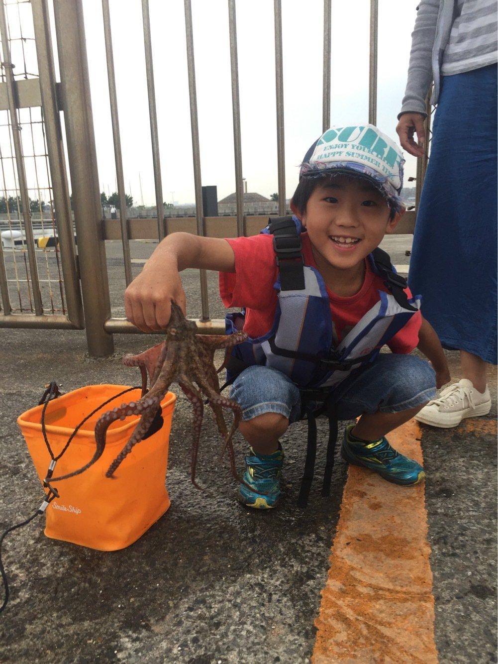 ユウさんの投稿画像,写っている魚はマダコ