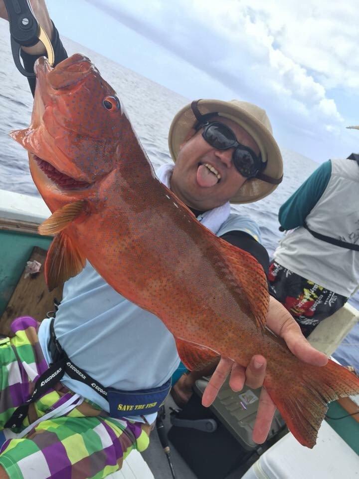 GUさんの投稿画像,写っている魚はアカハタ