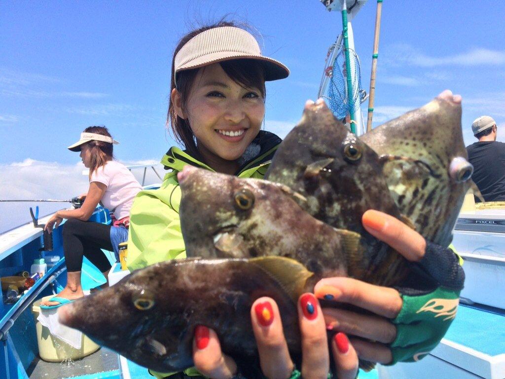 三原勇希さんの投稿画像,写っている魚はカワハギ