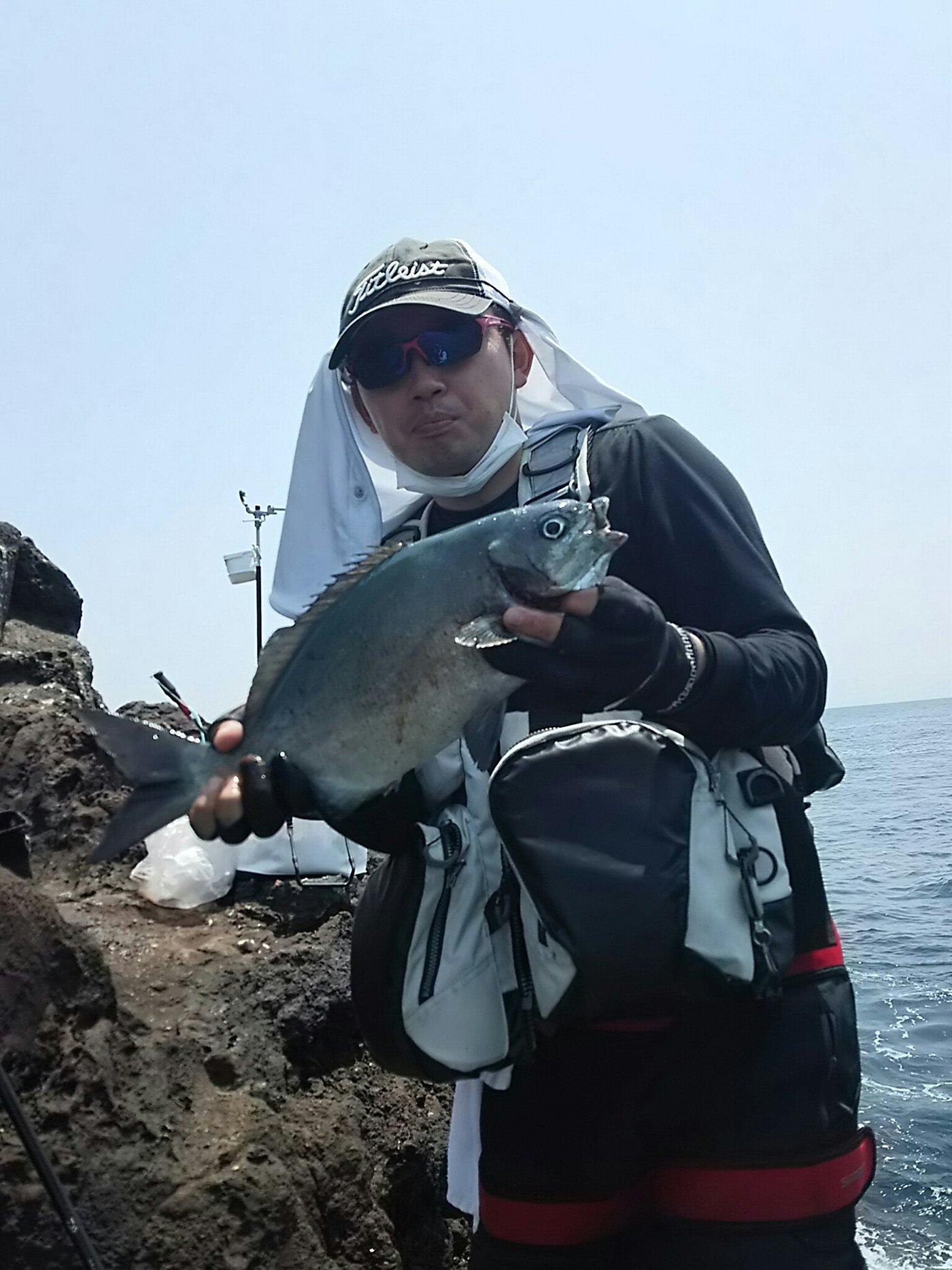 山北さんの投稿画像,写っている魚はイスズミ