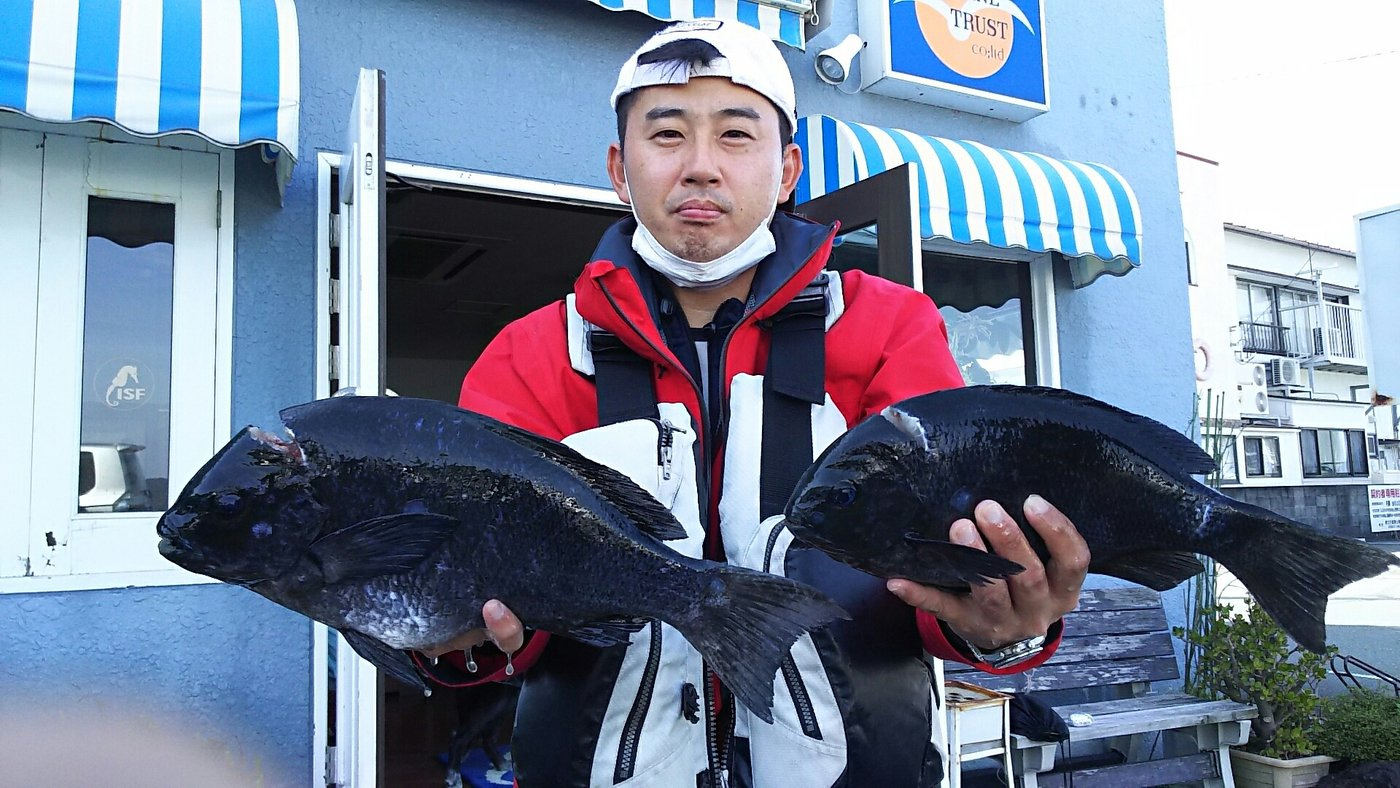 山北さんの投稿画像,写っている魚はオキナメジナ