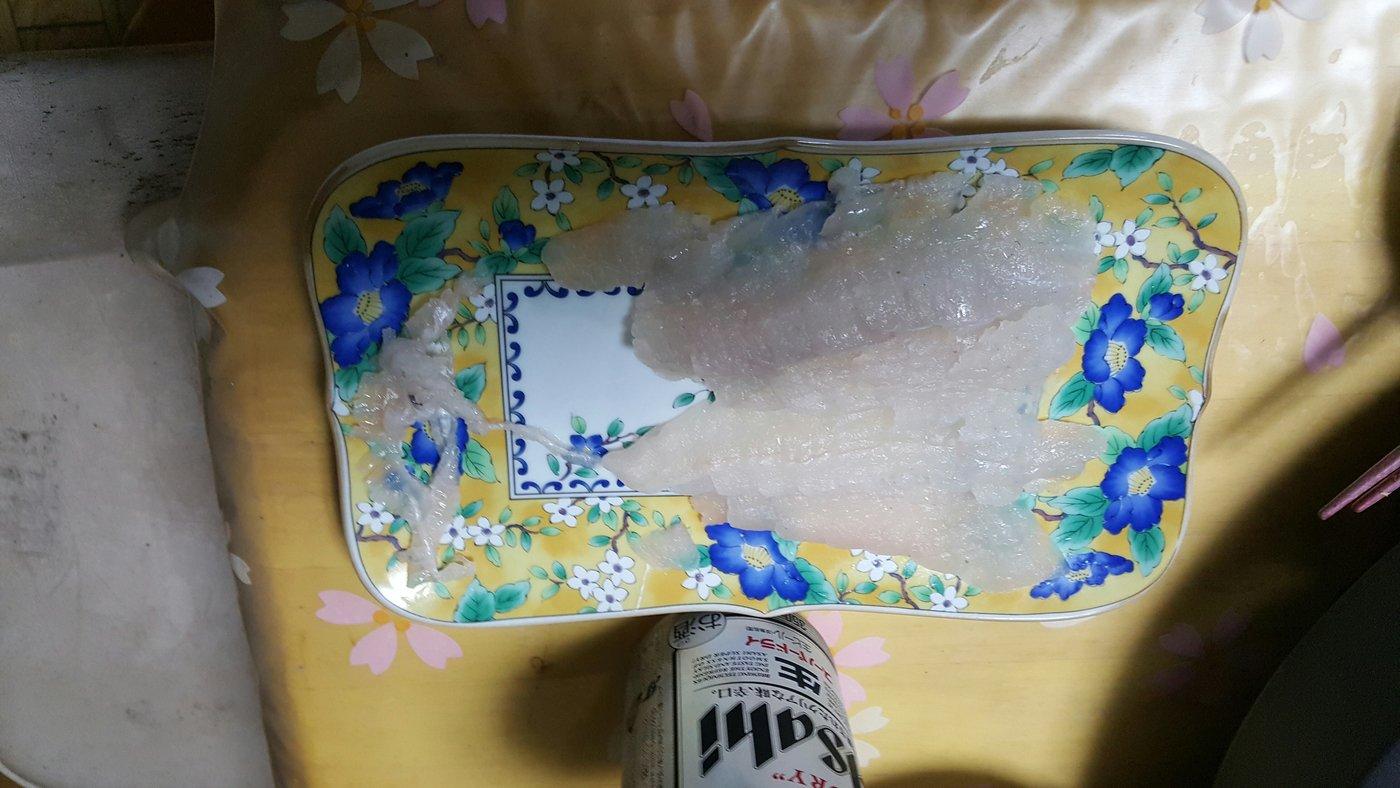 仙南ボトムハンターさんの投稿画像,写っている魚はヒラメ
