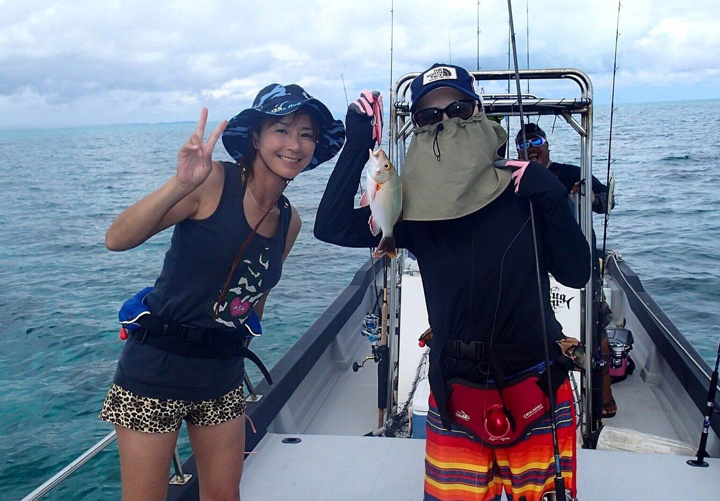 ユミさんの投稿画像,写っている魚はヒメフエダイ