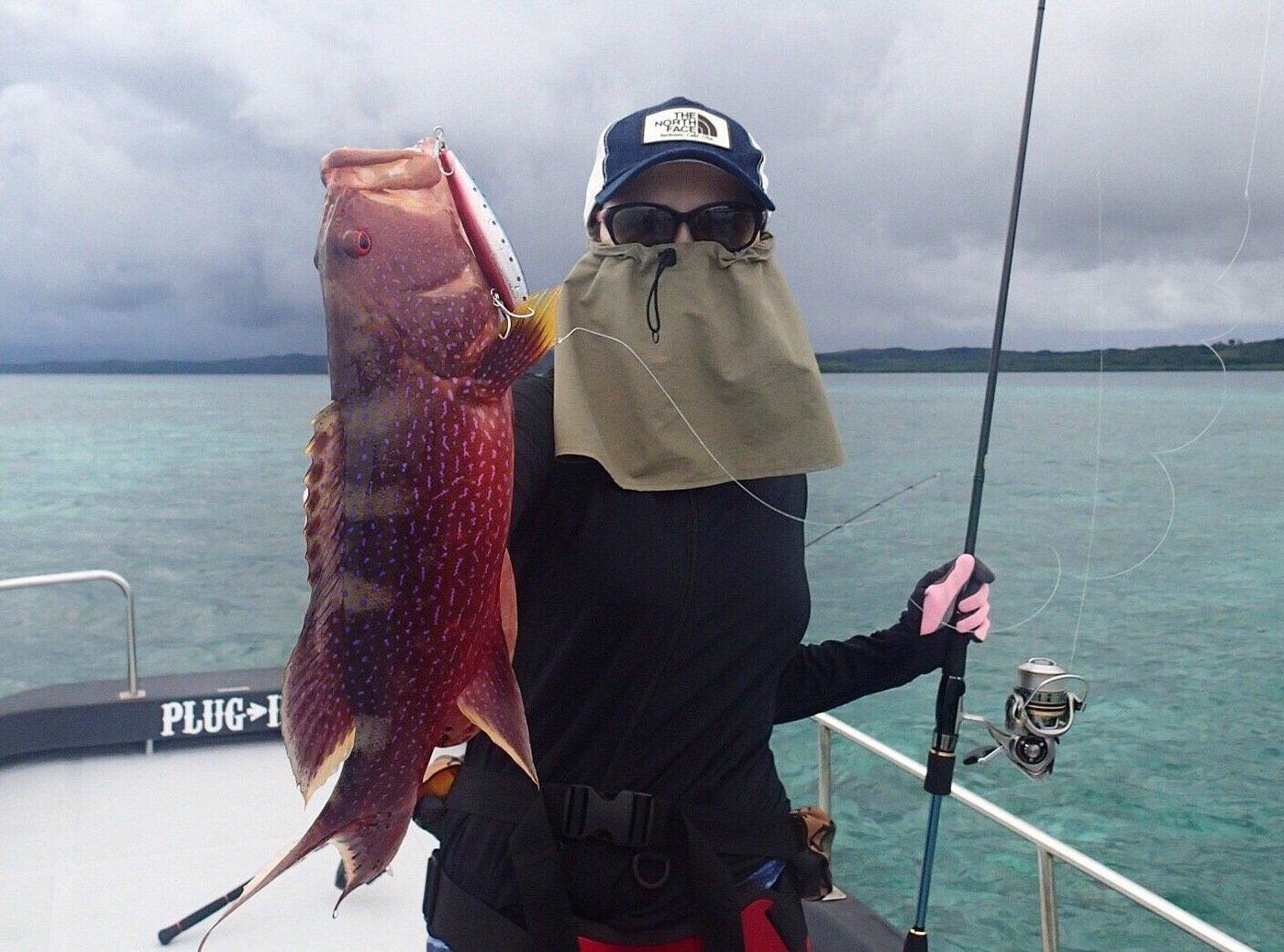 ユミさんの投稿画像,写っている魚はバラハタ