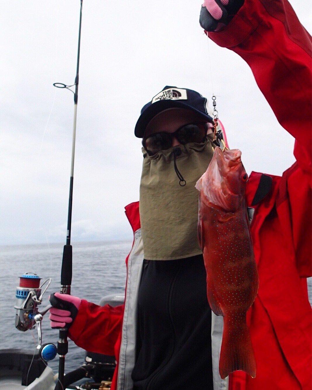 ユミさんの投稿画像,写っている魚はスジアラ
