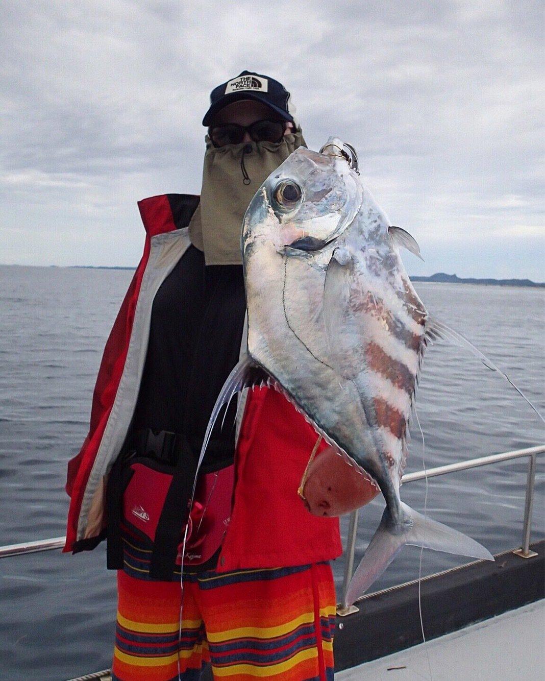 ユミさんの投稿画像,写っている魚はイトヒキアジ