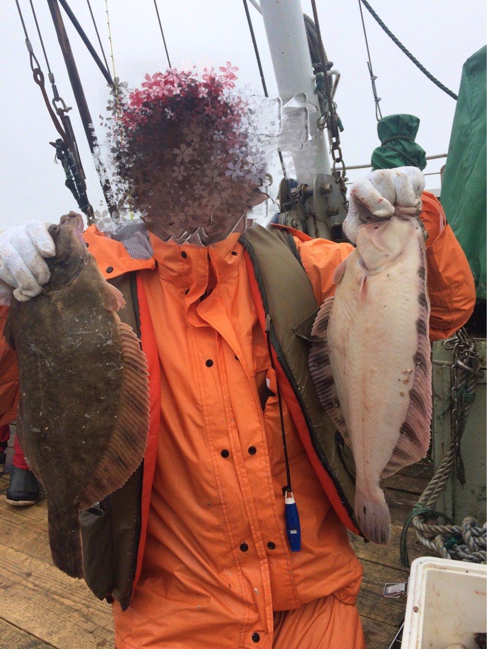 エンティーさんの投稿画像,写っている魚はクロガレイ