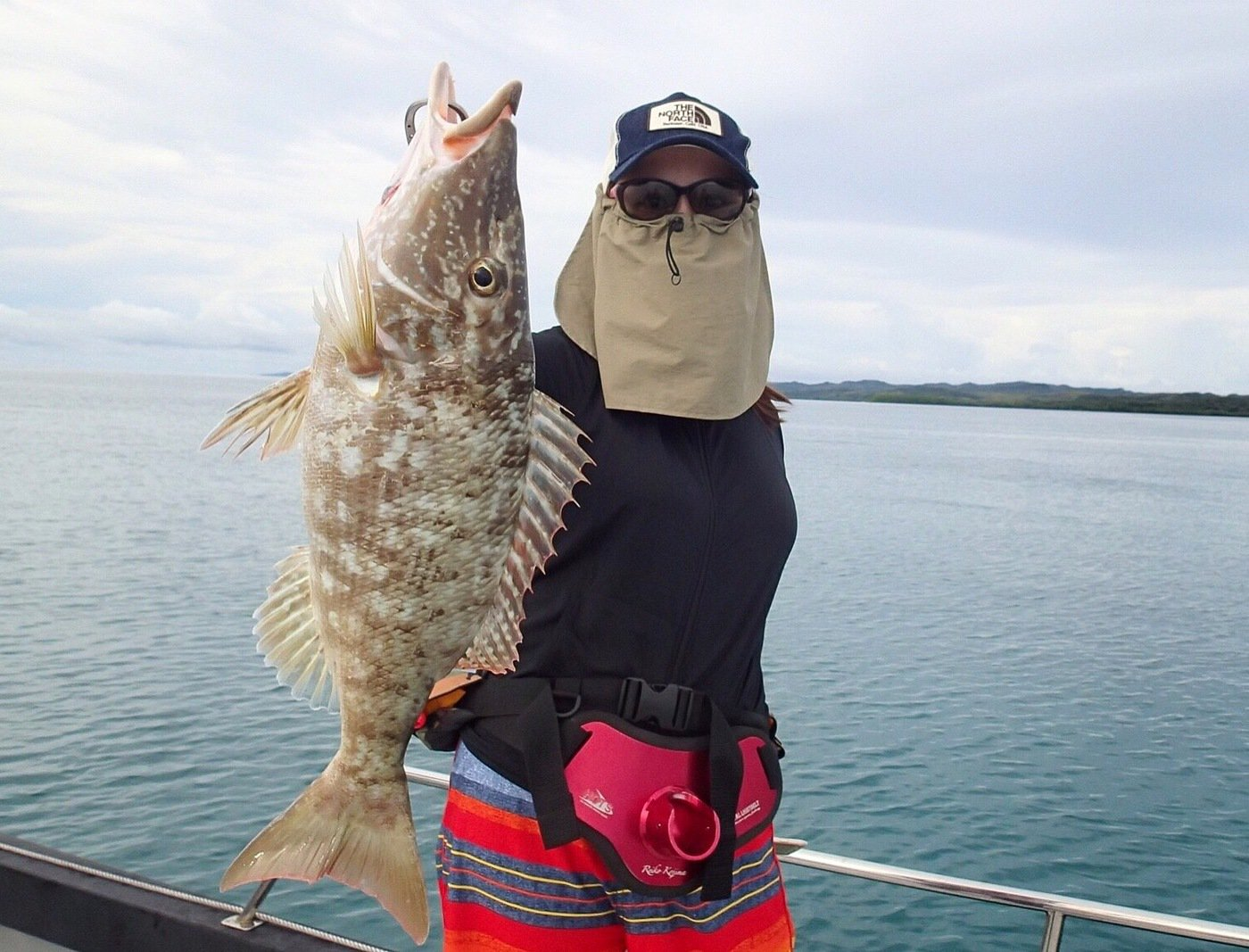 ユミさんの投稿画像,写っている魚はキツネフエフキ