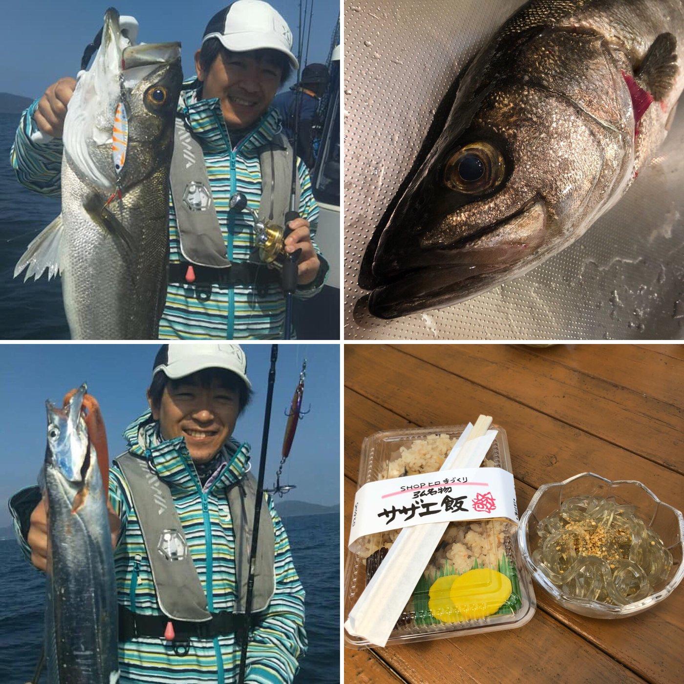 ミヤモトミチヒコさんの投稿画像,写っている魚はスズキ,タチウオ