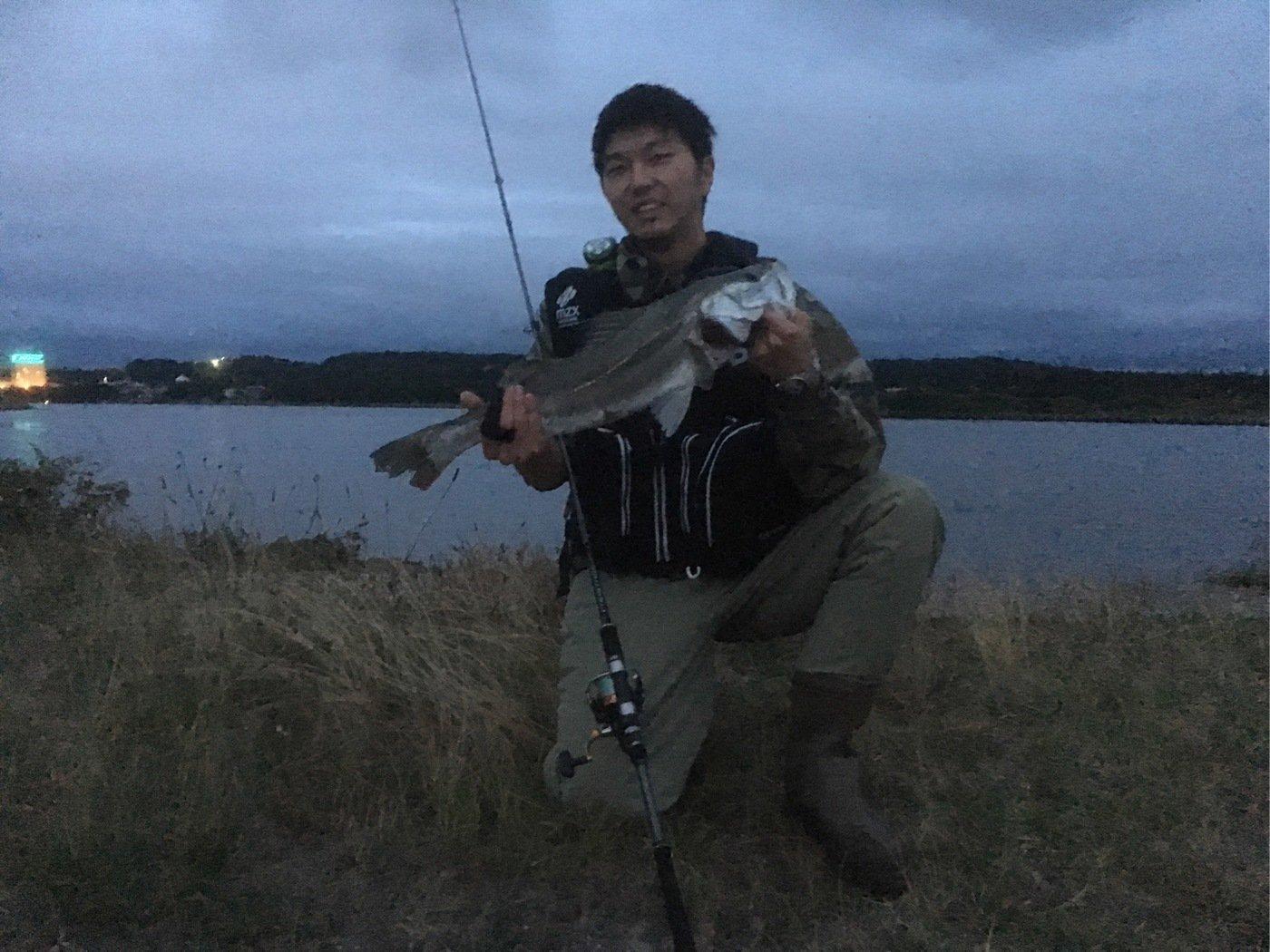 加藤健人さんの投稿画像,写っている魚はスズキ
