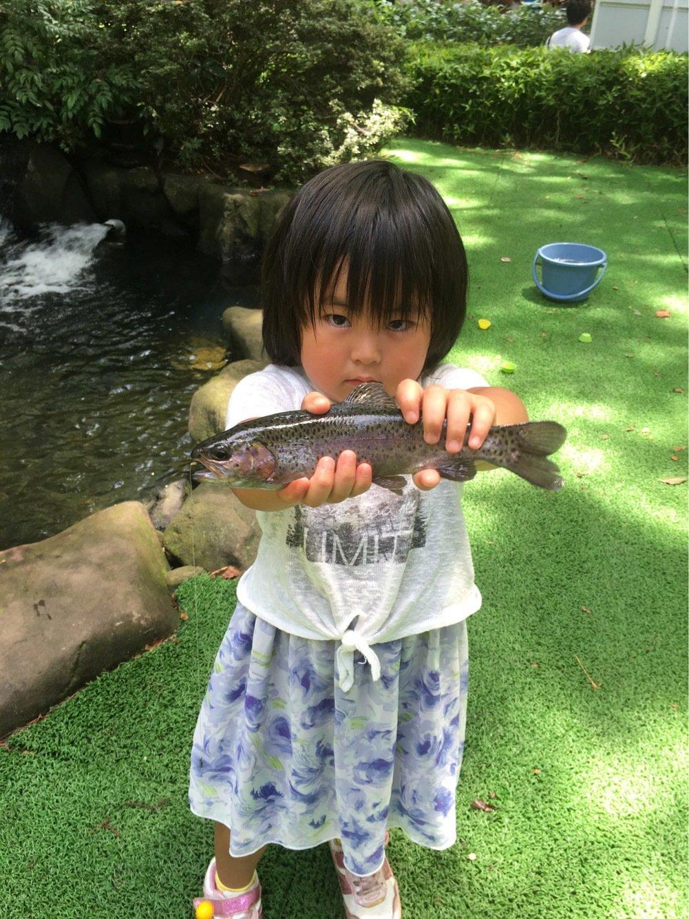 かいねパパさんの投稿画像,写っている魚はニジマス
