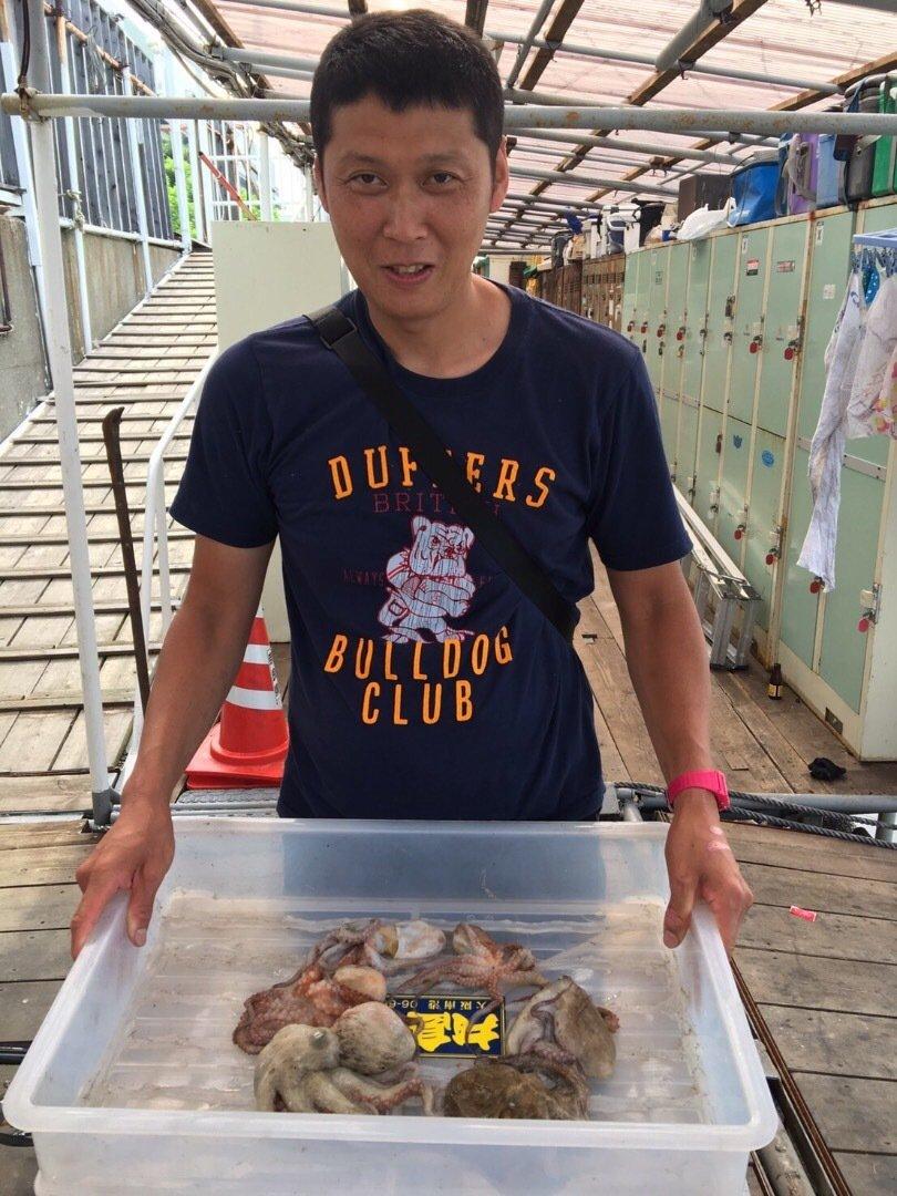B29さんの投稿画像,写っている魚はマダコ
