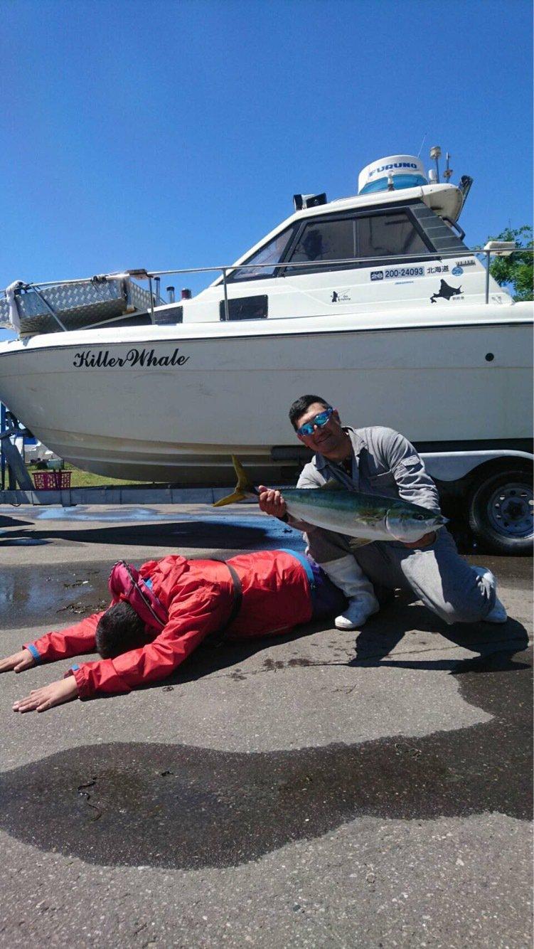 岩谷昌幸さんの投稿画像,写っている魚はブリ