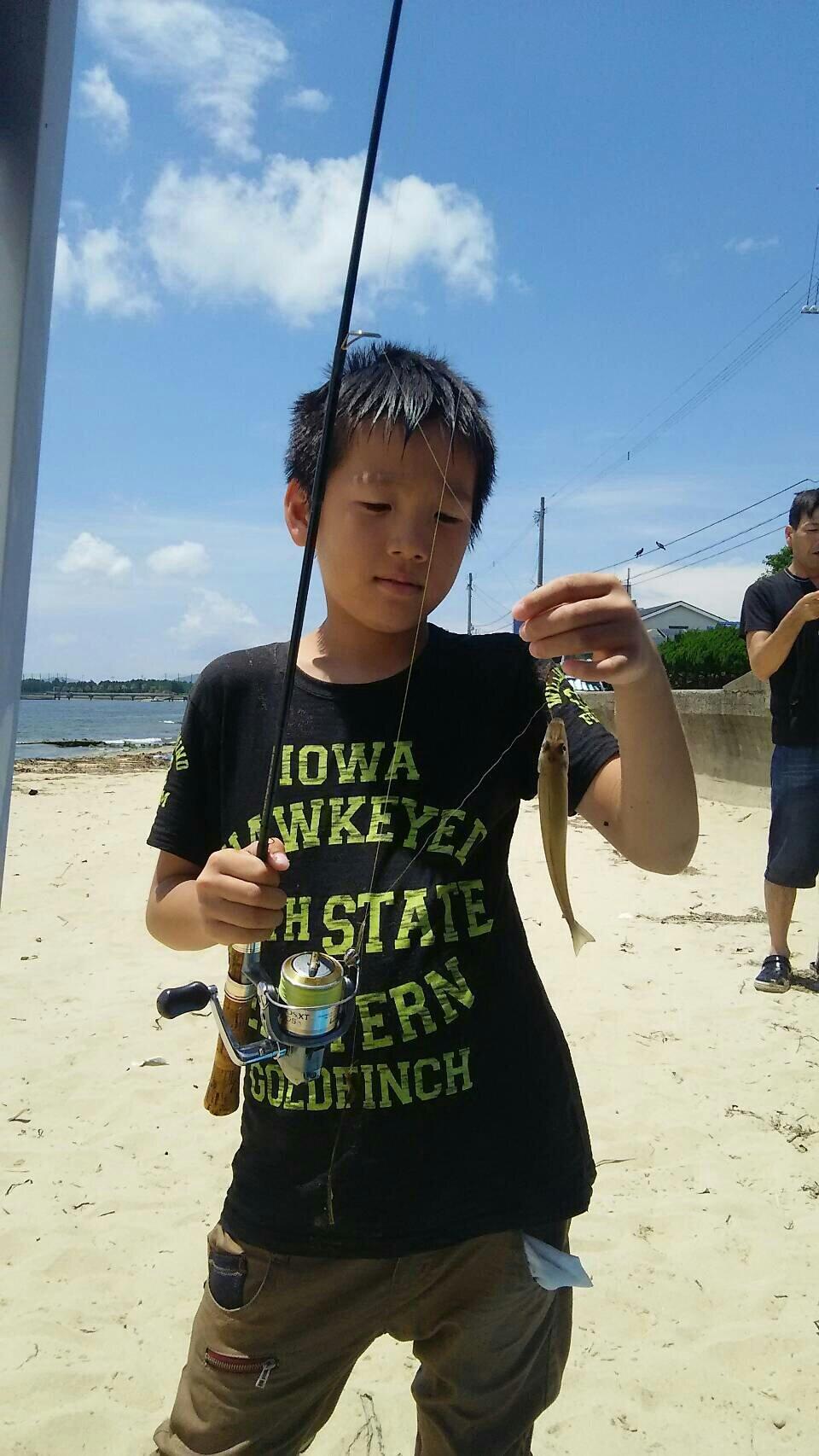 木下さんの投稿画像,写っている魚はシロギス