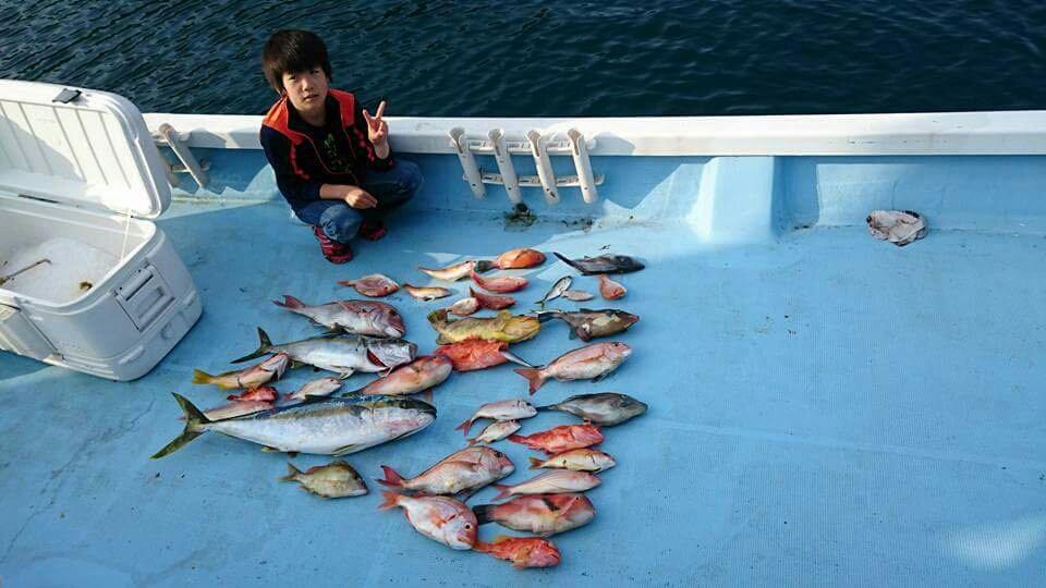 木下さんの投稿画像,写っている魚はウマズラハギ