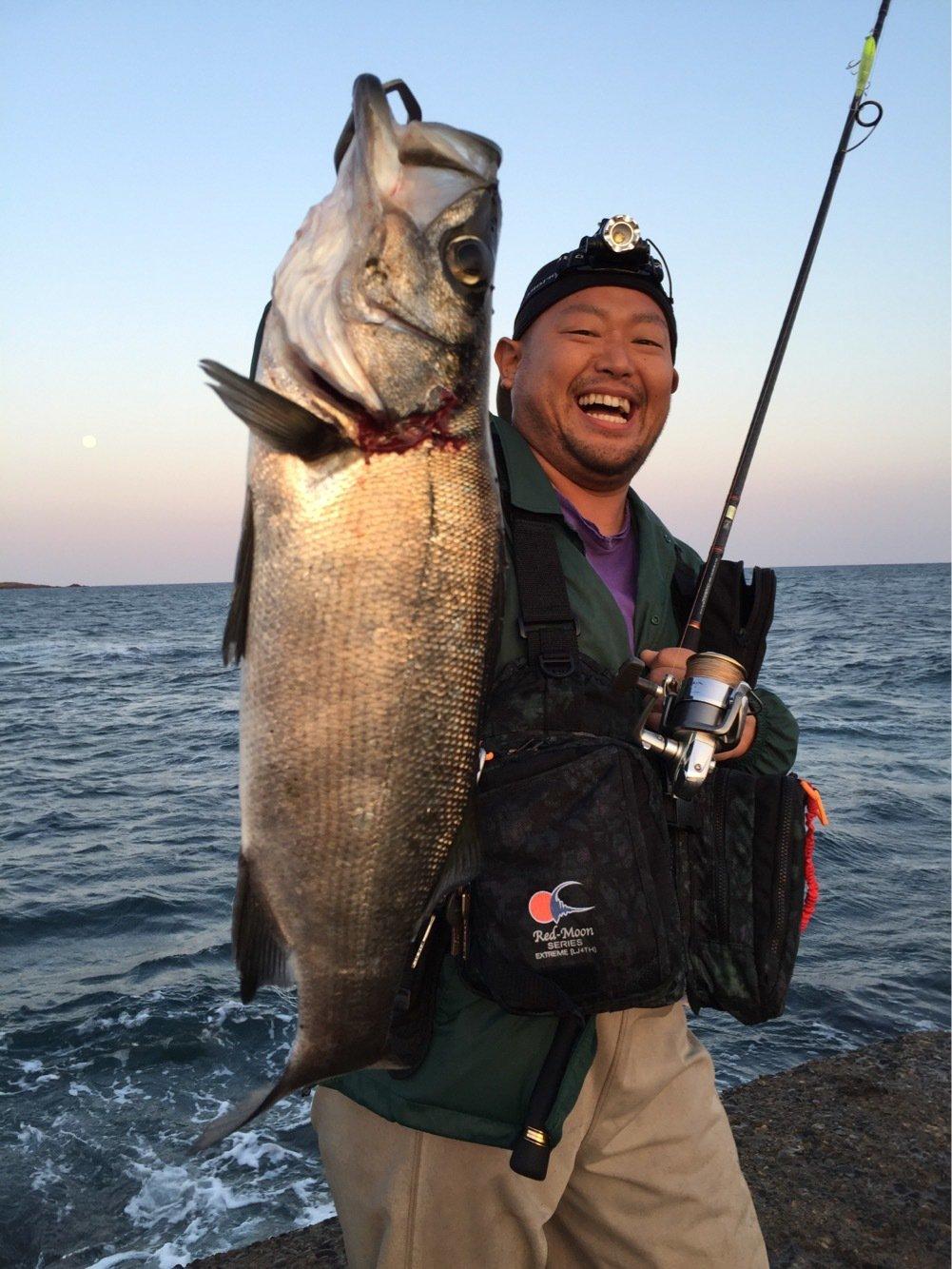 むーぼさんの投稿画像,写っている魚はヒラスズキ