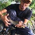 一匹狼さんの長野県塩尻市でのイワナの釣果写真