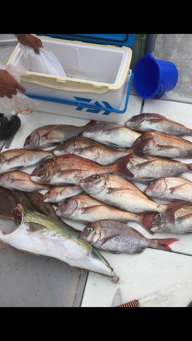 遊英丸さんの投稿画像,写っている魚はマダイ