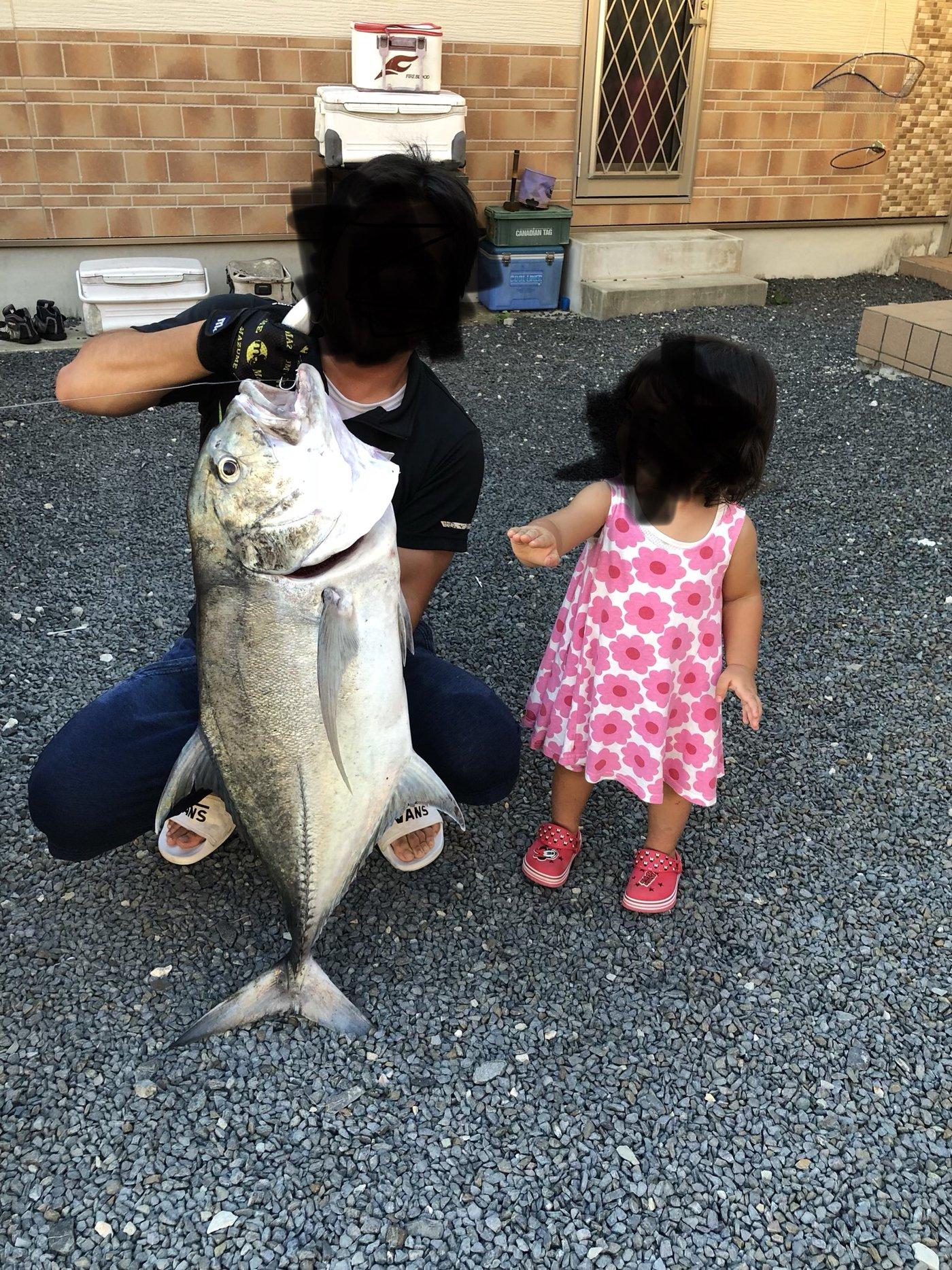 チーターさんさんの投稿画像,写っている魚はロウニンアジ