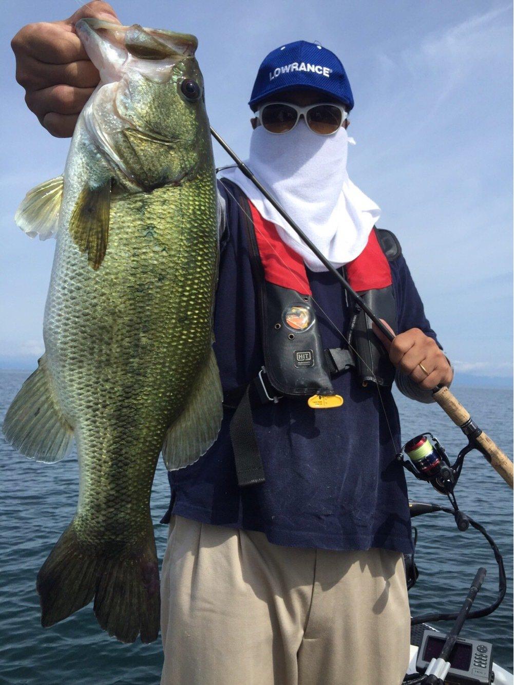 佐藤さんの投稿画像,写っている魚はブラックバス