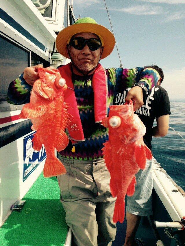 清水 聡さんの投稿画像,写っている魚はアコウダイ