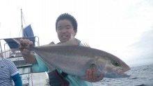 仁科哲洋さんの投稿画像,写っている魚はカンパチ