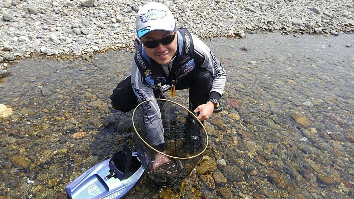 あゆ樹 板取川さんの投稿画像,写っている魚はアユ