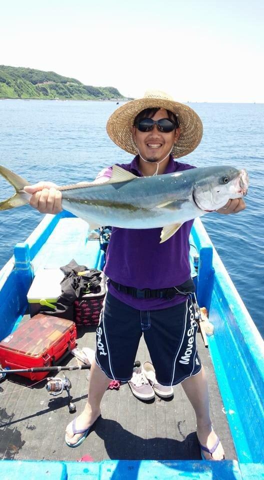 ぽてちんさんの投稿画像,写っている魚はヒラマサ