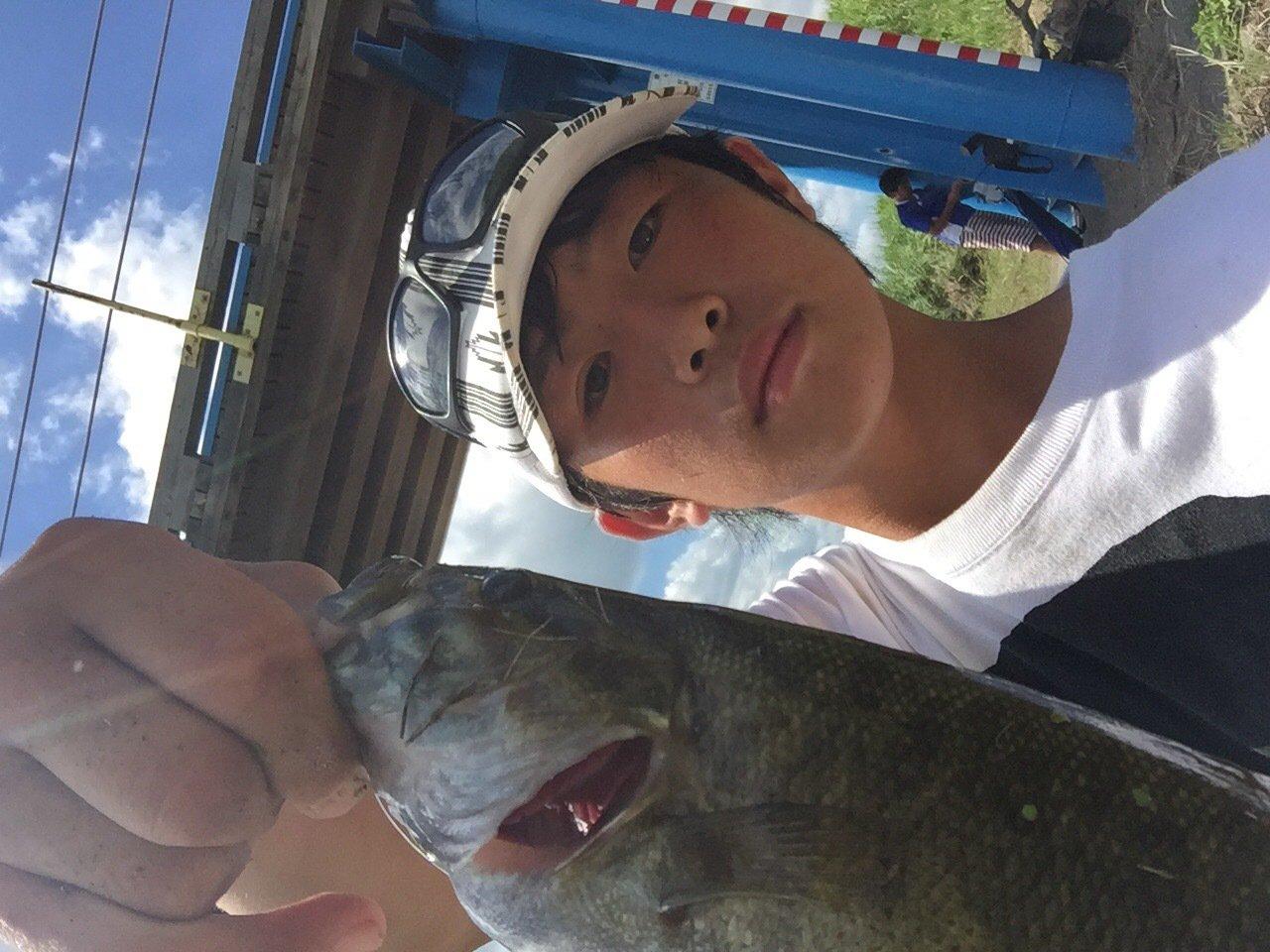 rikuさんの投稿画像,写っている魚はスモールマウスバス