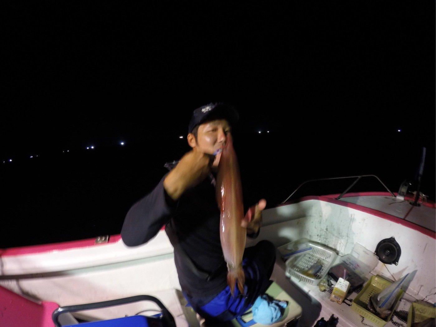 細野 隼佑さんの投稿画像,写っている魚はアカイカ