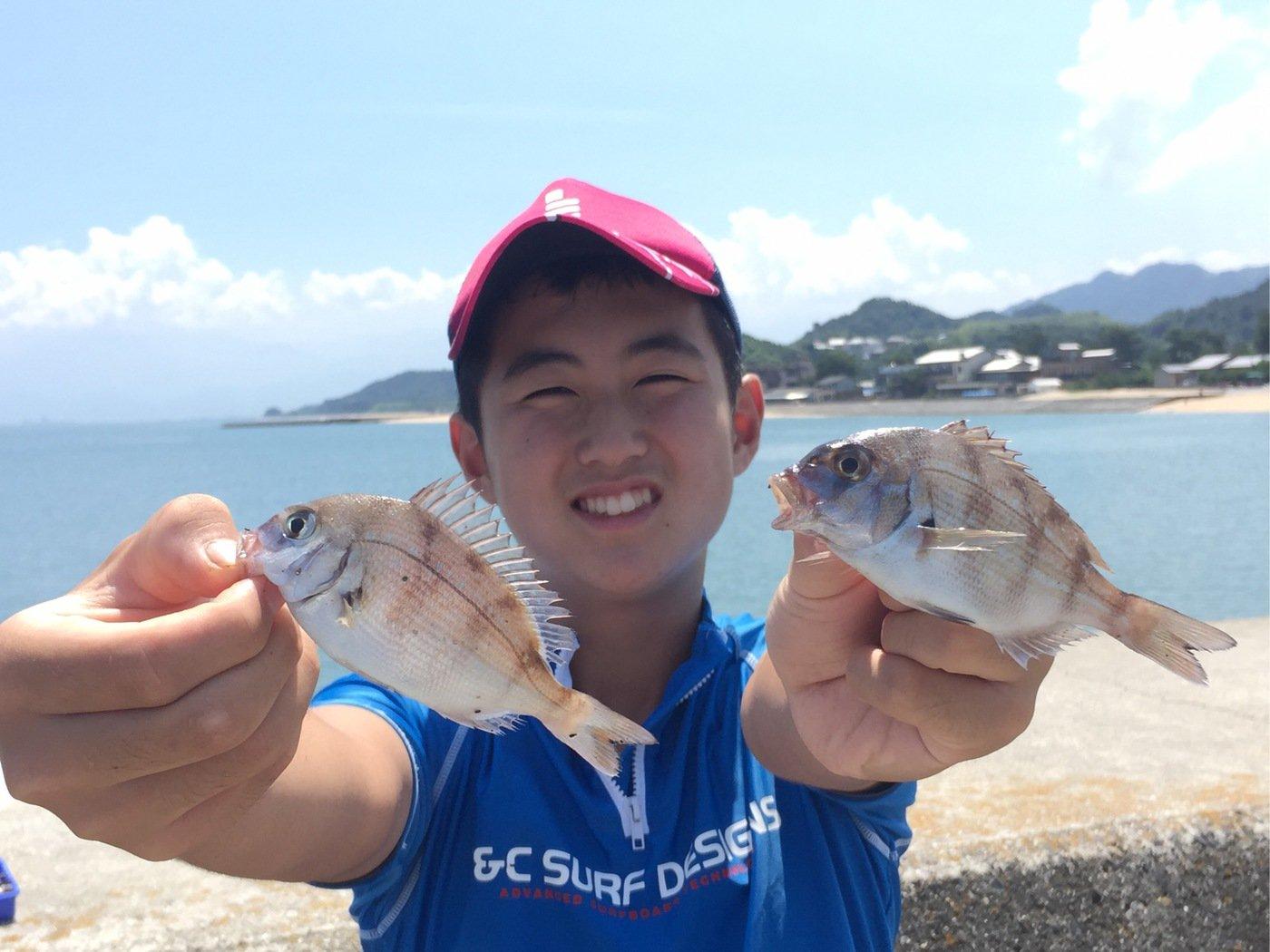 fish hunter 57号さんの投稿画像,写っている魚はマダイ
