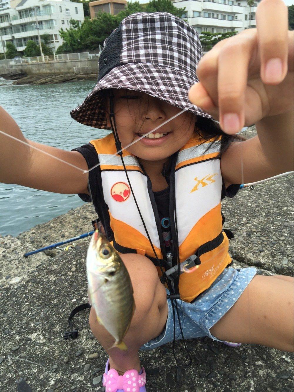わたるさんの投稿画像,写っている魚はアジ