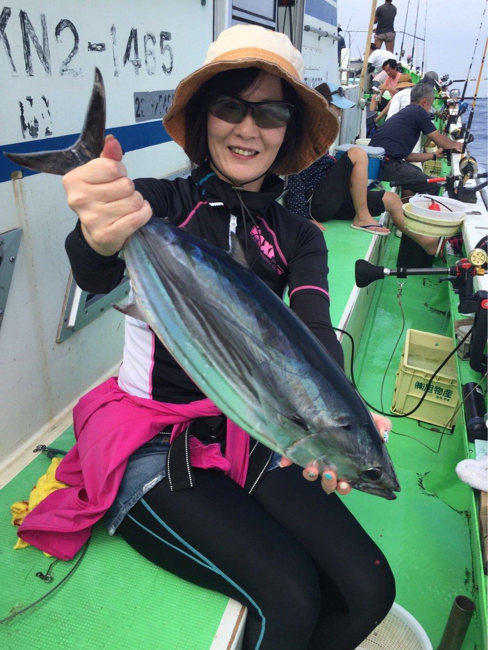 小太郎さんの投稿画像,写っている魚はカツオ