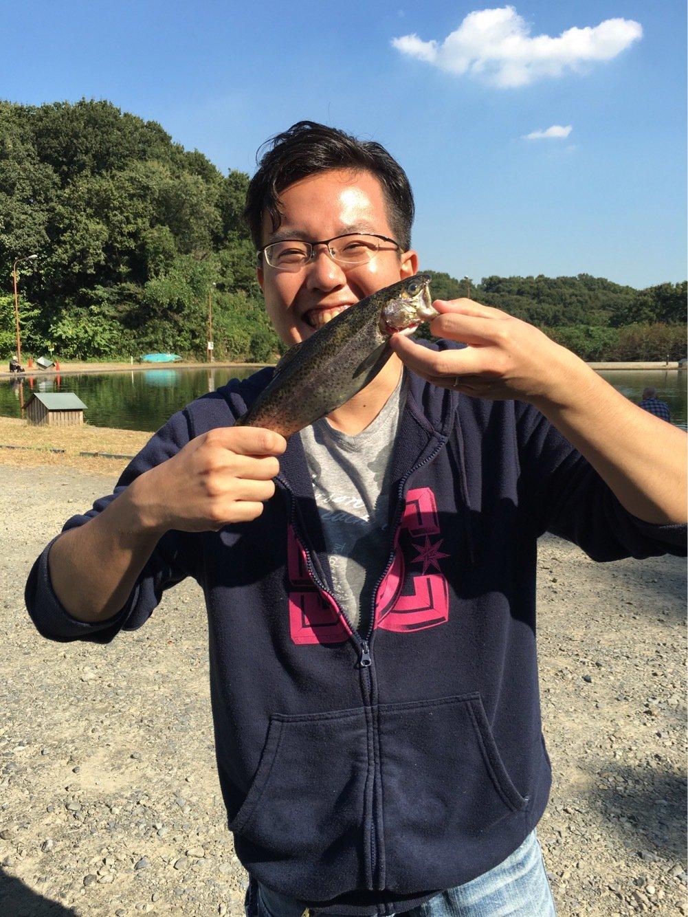 ゆうとさんの投稿画像,写っている魚はニジマス