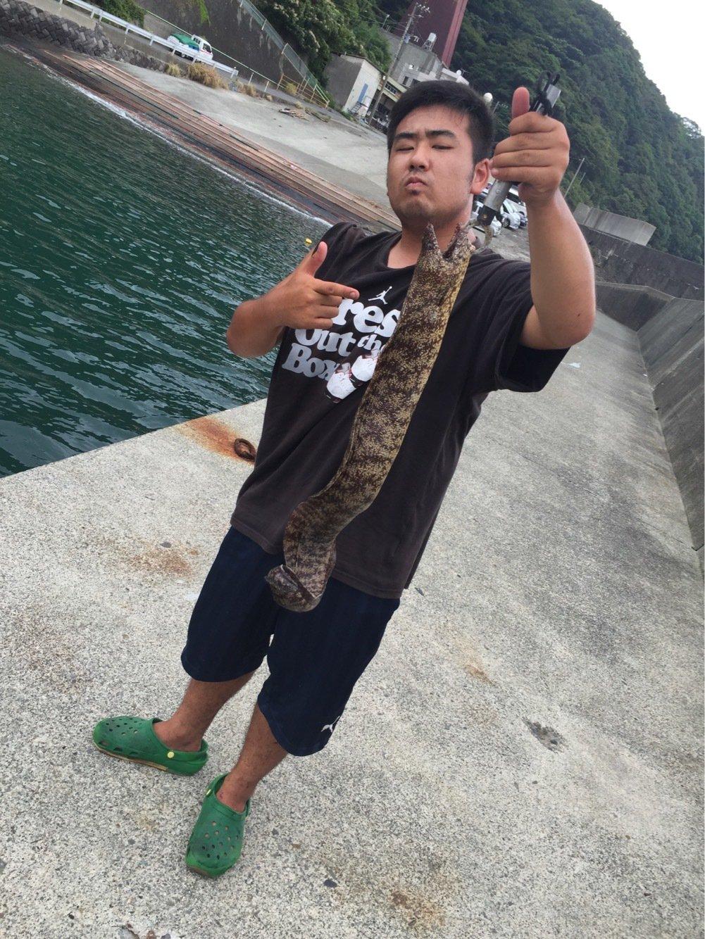 おいなりさんの投稿画像,写っている魚はウツボ