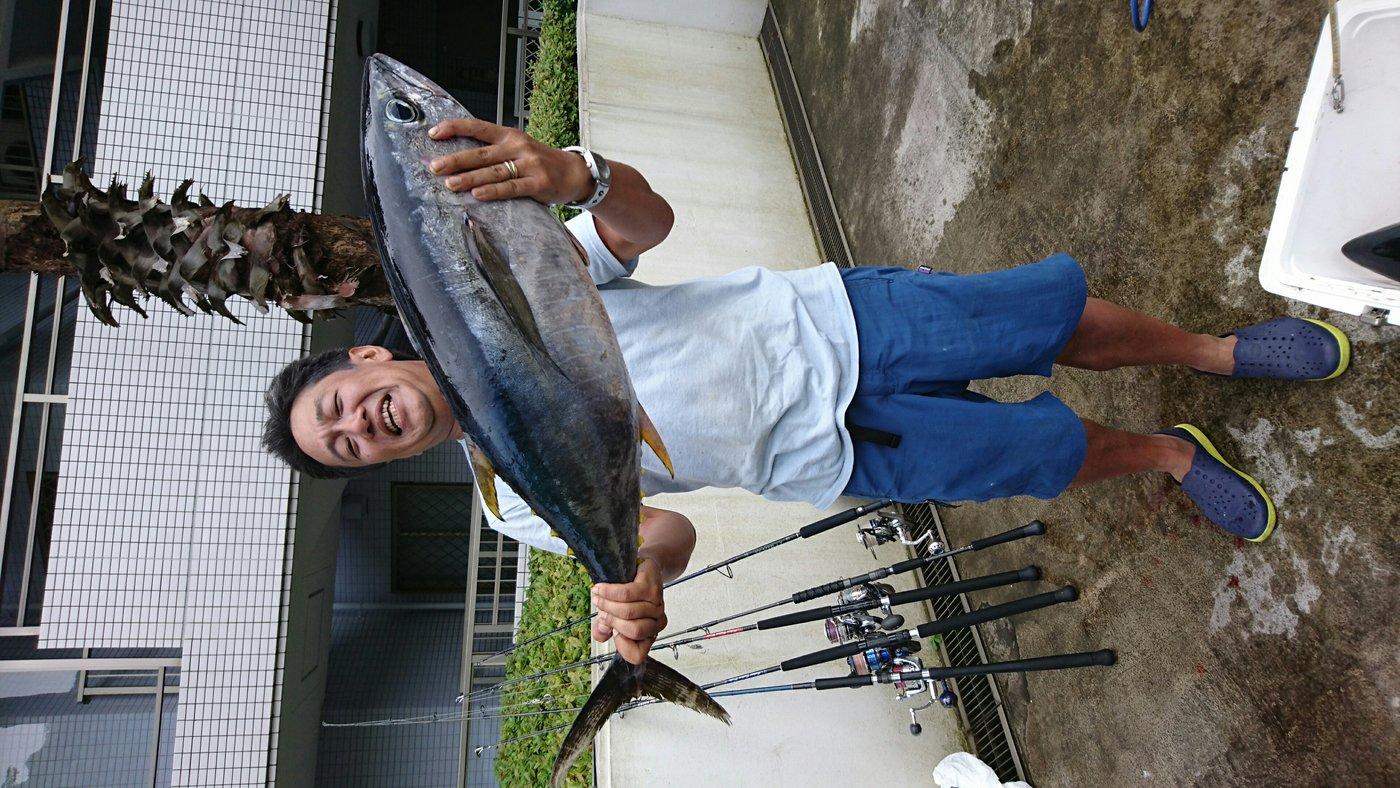 DAIさんの投稿画像,写っている魚はキハダマグロ