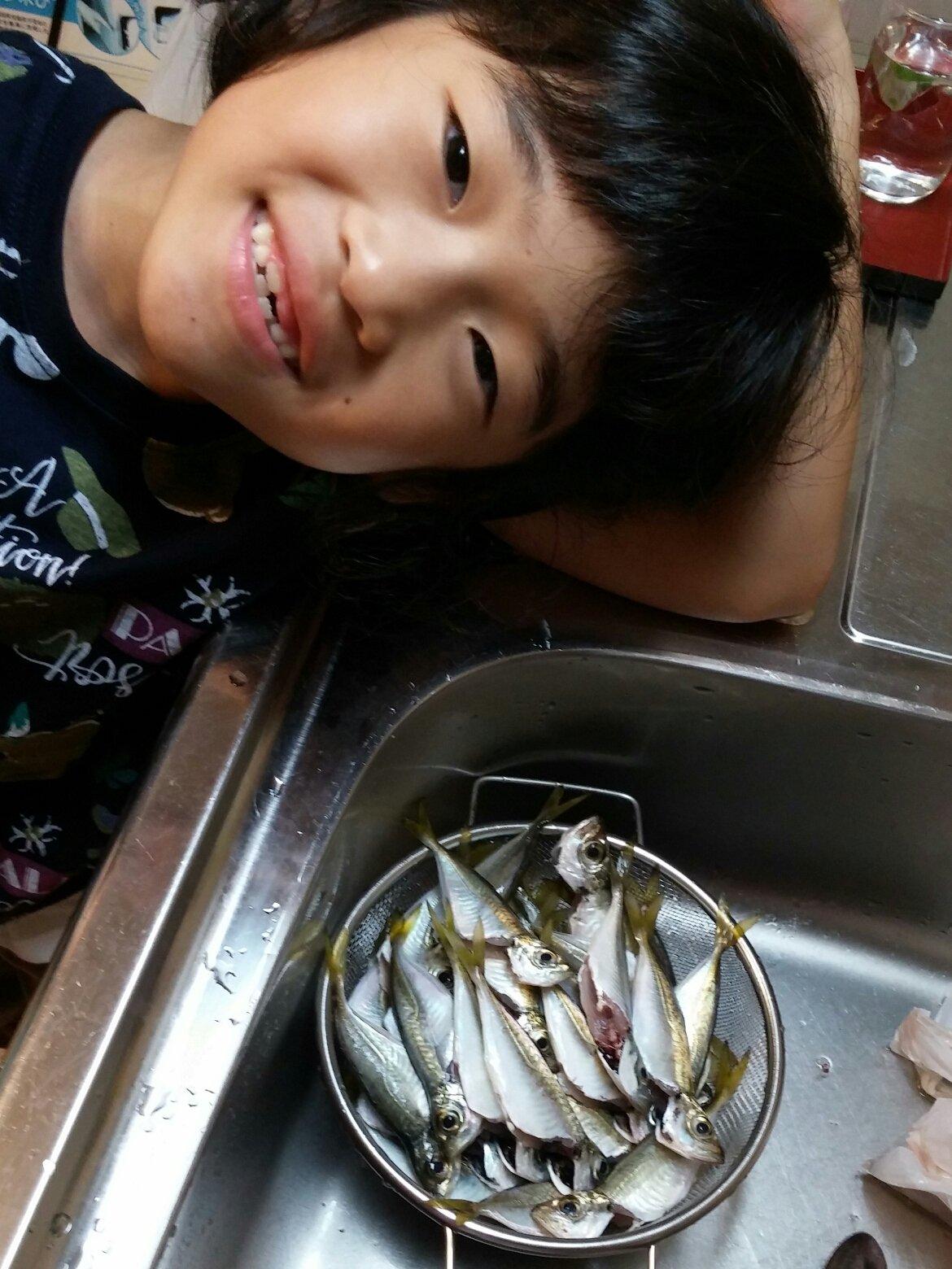なつぱぱさんの投稿画像,写っている魚はアジ