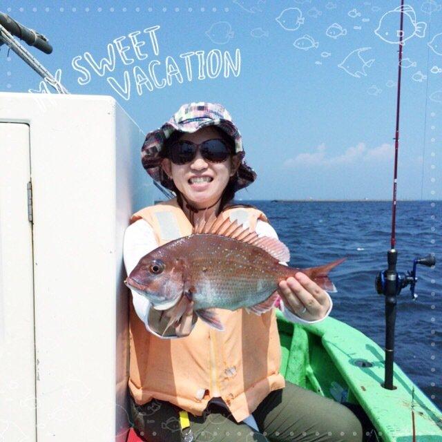 ななみさんの投稿画像,写っている魚はマダイ