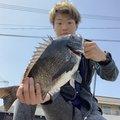 カサゴ会長さんの広島県でのクロダイの釣果写真