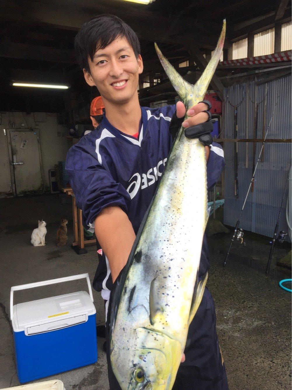 まっささんの投稿画像,写っている魚はシイラ