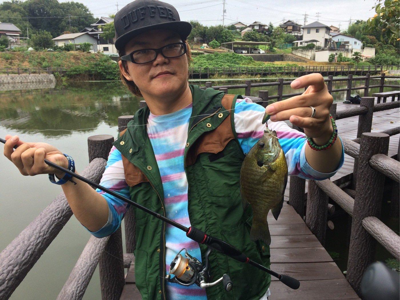 CCBさんの投稿画像,写っている魚はブルーギル