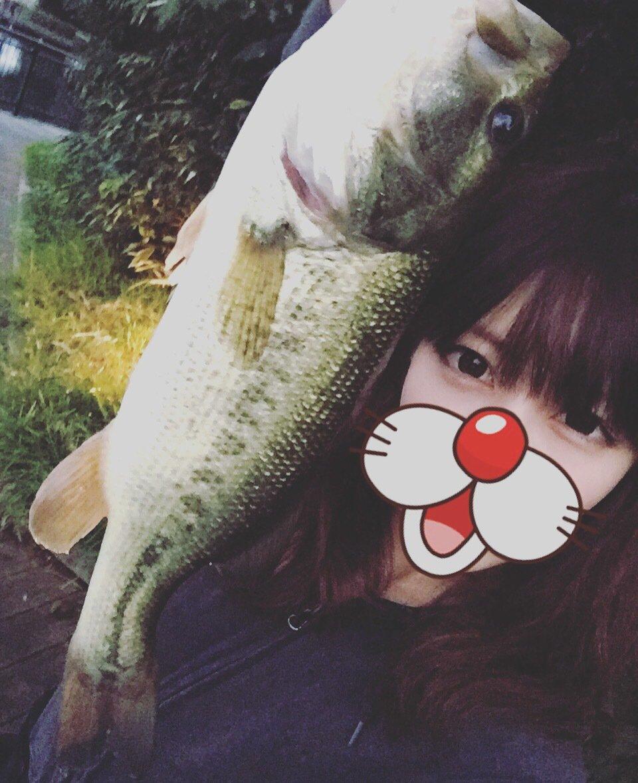 ちーさんの投稿画像,写っている魚はブラックバス