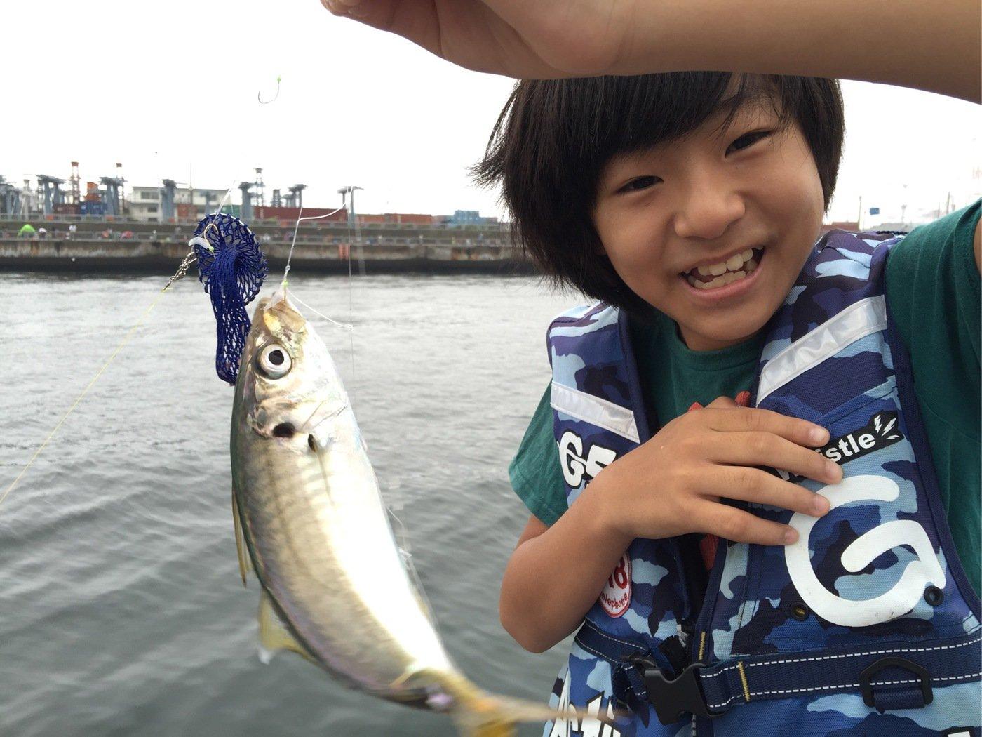 はにおさんの投稿画像,写っている魚はアジ