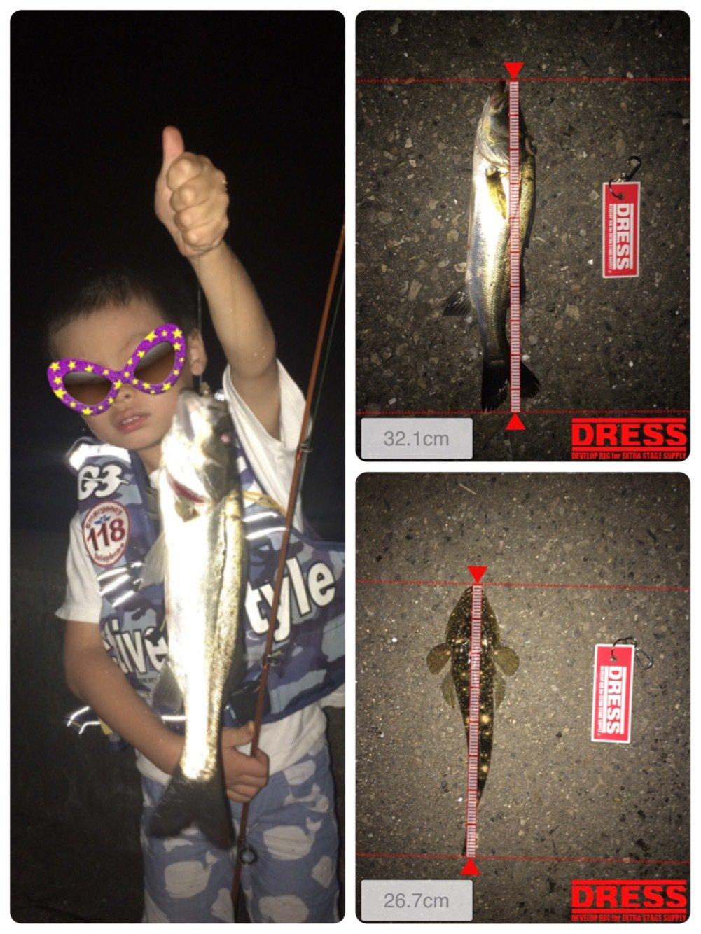 ヤスさんの投稿画像,写っている魚はスズキ