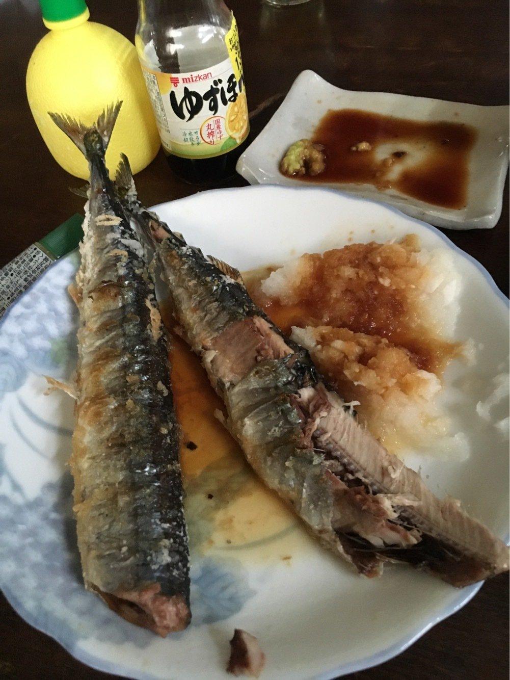 つよしさんの投稿画像,写っている魚はサンマ